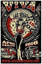 Viva Las Vegas Rockabilly Weekend POSTER VLV19 Vince Ray Hotrod Silkscreen Print