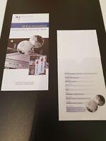 VfS Flyer Zertifikat für 10 Euro Silber Gedenkmünzen pP 2002 Documenta Kassel