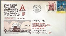 1982 Shuttle CHallanger Makes Overland trip to Edwards Space Voyage Cover
