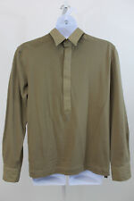 Gianfranco Ferre Jeans Men's Khaki 3/4 Button Cotton Blend Shirt XL  (F08)