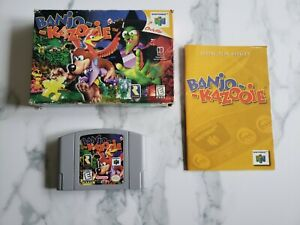 Banjo Kazooie Complete CIB. N64 Game, Box, Manual. Authentic. Tested. Acceptable