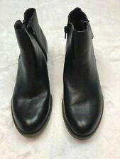 NWOT Kensie Ghita Ladies' Black Leather Ankle Boots Booties Size 8.5M