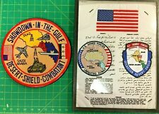 Desert Storm/Desert Shield, awards, blood chit and patches. Excellent collection