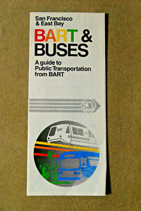BART & Buses - A Guide to Public Transportation from BART - 1982