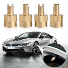 8pcs Car Motorcycle Copper Metal Slotted Head Valve Stem Caps Core Remover Tool