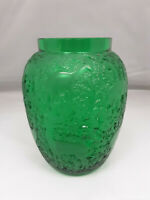 Lalique Biches Vase Emerald Green Crystal Excellent Condition Signed