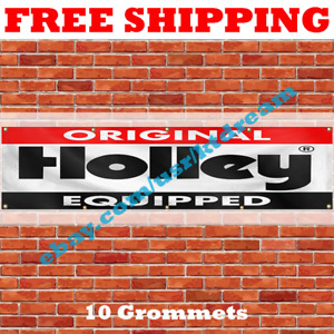 Holley Banner Flag 2X8ft Original Equipped Auto Parts Car Wall Decor Large NEW