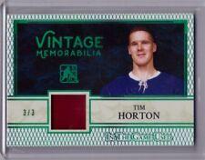 TIM HORTON 16/17 Leaf In The Game Used Vintage Memorabilia Jersey #d 3/3 SP Card