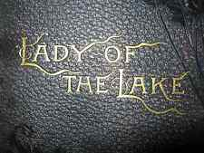 Vintage / Antique Lady Of The Lake by Sir Walter Scott With Leather Cover