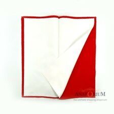 Jewelry Cleaning Polishing Cloth Large Gold Silver Metal Watches Premium Red