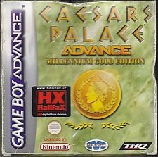 Game Boy Advance GBA «CAESARS PALACE ADVANCE MILLENIUM GOLD» completo come nuovo
