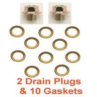 (2) 12mm 1.25 Regular 14mm Hex Drain Plug & (10) Copper Gaskets RPL 11128-01M05