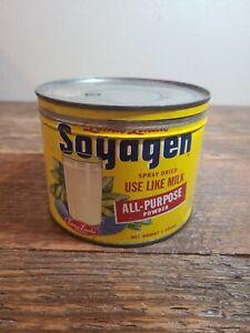 Vintage Loma Linda Foods Soyagen Tin 1 Pound