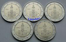Duitsland speciale 2 euro 2015 Hessen A-D-F-G-J UNC