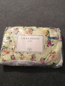 Laura Ashley Carlisle Bedskirt Twin Yellow Floral, New