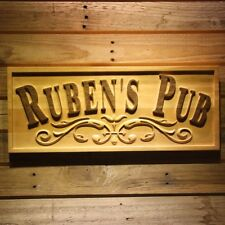wpa0351 Name Personalized PUB Man Cave Bar Club Gifts Wood Engraved Wooden Sign