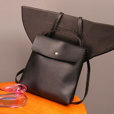 Leather Satchel Shoulder Bag Messenger Bags Women Lady Backpack School Rucksack