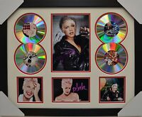 PINK P!NK 4CD SIGNED FRAMED MEMORABILIA LIMITED EDITION