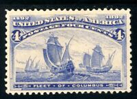 USAstamps Unused VF US 1893 Columbian Expo Columbus Fleet Scott 233 MVLH
