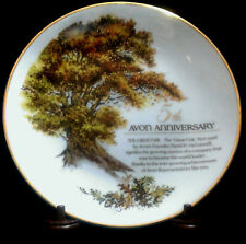 Avon The Great Oak Plate Commemorating Avon Representative'S 5th Anniversary Euc