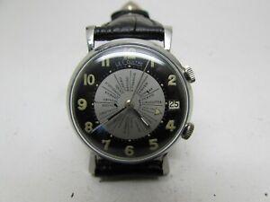 Vintage Jaeger-LeCoultre Alarm World Time  Manual Men Watch