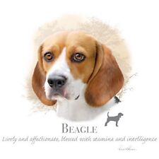 """BEAGLE DOG w Phrase on One 18"""" x 22"""" Fabric Panel to Sew.Actual pic is 10x10.5""""."""