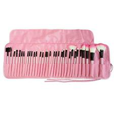 Professional 32 Pcs Kabuki Make Up Brush Set and Cosmetic Brushes Case Pink