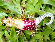 Gecko/Lizard Figurine Animals Murano Glass Hand Blown Gold Trim Collectible, Ry