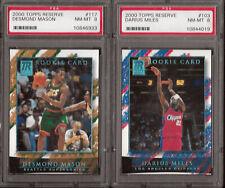 2000 Topps Reserve Novato Lote Darius Miles Desmond Mason autenticador deportivos profesionales de la NBA de 8