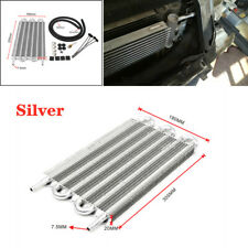 6 Row Radiator Remote Aluminum Car Transmission Oil Cooler + Hose / Mounting Kit