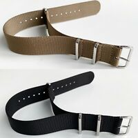 Nylon One Piece Watch Strap Band Mens Military Army Divers MOD Spring 18-24mm