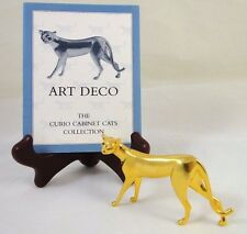 ART DECO 1986 Franklin Mint Curio Cabinet Cats Collection Figurine w/ Info Card