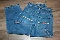 JNCO Size 32 x 30 Embroidered Crown Carpenter Vintage Skater 90s Jeans