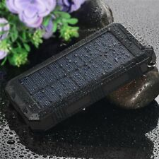 Waterproof 100000mAh Solar Power Bank 2USB Battery Portable Charger for iPhone