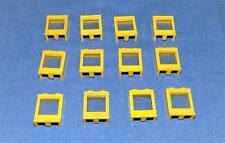 LEGO - VINTAGE WINDOWS - YELLOW FRAME - CLEAR GLASS - 1X2X2 - 12 EACH