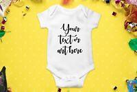Baby announcement onesie, Custom baby onesie, Name baby onesie, Baby shower gift