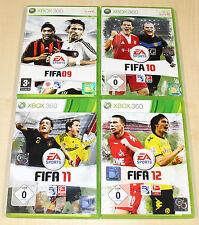 4 XBOX 360 SPIELE SAMMLUNG FIFA 09 10 11 12 - FUSSBALL SOCCER FOOTBALL (14 15)