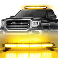 54LED Emergency Traffic Advisor Double Side Warning Strobe Light Bar-Amber