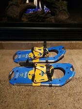 New listing Tubbs Flurry Kids Snowshoes 18 Inches Blue Yellow Very Good Used Condition.