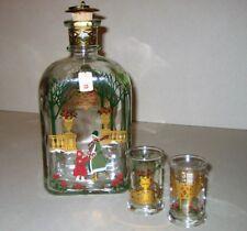 Weihnachtsflasche mit zwei Gläsern von Holmegaard