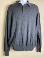 Orvis Men Size L Gray Thermal Shirt Long Sleeve Cotton Silk Cashmere