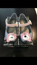 Genuine New Mini Melissa Unicorn Silver Glitz - size 5-12 toddler