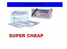 100 Units Livy STERILE Alcohol Wipes Swab , USE BY MEDICAL & HOSPITALS