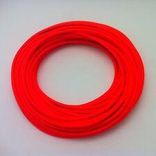 100m Design Textilkabel, 3x0,75, Neon-Orange, Top EU Qualität, Sonderangebot