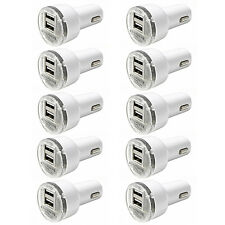 10x Dual USB Port Car Charger Adapter 2.1A For iPhone 4 5 6 LG HTC Samsung Phone
