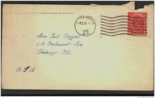 CANADA, Postcard 1943 4c red envelope, envelope torn (D)