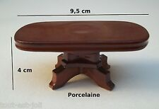table miniature en porcelaine, maison de poupée, vitrine, collection,meuble CL11