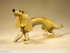 Glass Blown Art Figurine Murano Animal Dachshund # 6634