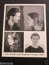 JEN CHAPIN & STEPHAN CRUMP--PUBLICITY PHOTO
