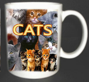 I LOVE CATS COFFEE MUG LIMITED EDITION GIFT NEW YOU CAN PERSONALISE WITH NAME